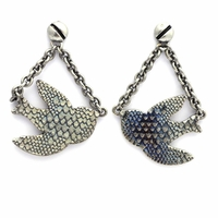 Marc by Marc Jacobs Petal to the Metal Flight Bird Drop Earrings