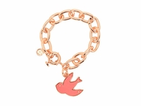 Pink Petal To The Metal Charm Bracelet