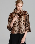 Donald Leopard Print Fur Jacket