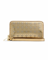 Gold Michael Perforated Flower Multifunction Wallet