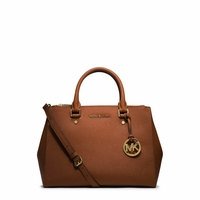 Sutton Medium Saffiano Leather Satchel