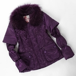 Down Jacket with Fox Fur Trim (On Sale)