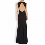 Moschino Cheap Chic Black Cutout Bow Embellished Crepe Gown - 5.3