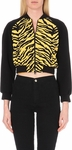 Moschino Cheap & Chic Black Zebra-Print Bomber Jacket