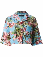 Multicolor Floral Cropped Jacket