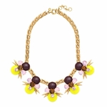 Multicolor Kiwi Crystal Statement Necklace