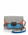 Multicolor Lip Lock Optical Stripe Multi Xbody Bag - 9.25