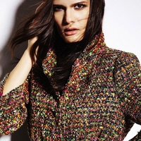 Multicolor Tweed Wool Coat