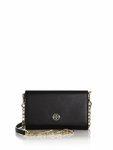 Navy Blue Robinson Saffiano Chain Wallet - 4.20