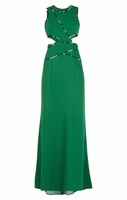 Nikkole Sleeveless Side Cutout Gown