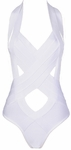'Paris' Bandage Cut Out Swimsuit - 3.26