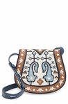 Patchwork Leather Saddle Bag