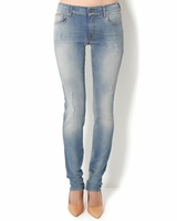 Straight Leg Light Wash Jeans - Made in Italy