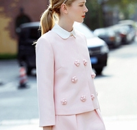 Pink Applique Jacket