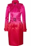 Pink Satin Degrade Trench Coat