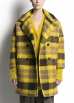 PINK TARTAN PLAID COAT IN CAMEL - 9.18