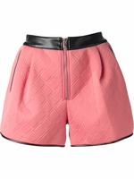 Pink Voluminous Quilted Shorts