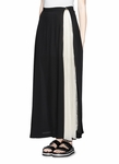 PLEAT INSERT GEORGETTE MAXI SKIRT