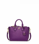 Purple Robinson Pebbled Mini Square Tote - 4.1