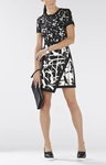 RAQUEL PRINT-BLOCKED ASYMMETRICAL SKIRT DRESS - 3.28