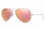 Ray-ban AVIATOR FLASH LENSES Pink Mirror - RB3025