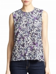 Rebecca Taylor Purple Silk Floral Print Top - 5.7