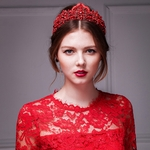 Red Crystal Encrusted Tiara FF3009