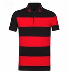 Red Cuban-Fit Striped Polo Shirt - 5.18