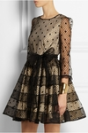Brown Polka Dot Tulle Dress