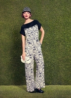 Runway Styled Resort Printed Silk Jumpsuit