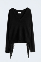 RINA LEATHER DELUXE C SWEATER