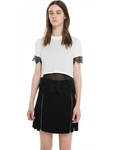 SANDRO ELGA LACE TRIM CROP TOP - 4.19