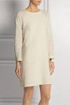 See By Chloe White Honeycomb Stretch Cottonblend Mini Dress