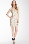 See By Chloe Pleated Burnout Strapless Dress (On Sale)