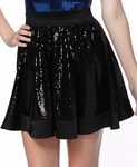 Sequin A-line Skirt