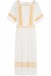 Silk Dress with Eyelet Embroidery - 4.16