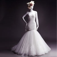 SILK STRAPLESS MERMAID WEDDING DRESS