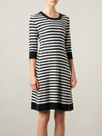 Sonia by Sonia Rykiel Black Striped Knitted Dress - 5.31