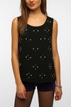 Sparkle & Fade Studded Front Tank Top