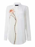 Silk shirt with flower