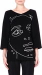 Faces Woolblend Top Black