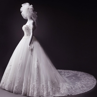 Strapless Tulle Ball Gown with Crystal Detail