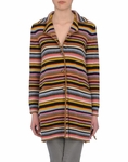 Stripe Wool Cardigan