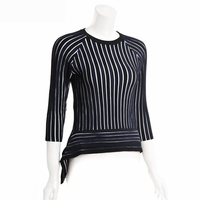 Asymmetric Ribbed-knit Top