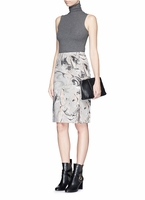 Theory Gray 'Phereniki' Geode Print Crepe Pencil Skirt