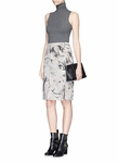 Theory Gray 'Phereniki' Geode Print Crepe Pencil Skirt - 9.6