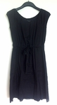 Theroy Black Cotton Dress