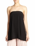 Tibi Black Simone Silk Strapless Top - 9.5