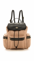 Beige Kerrington Flap Backpack Black Viva Dot Mini