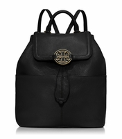 Black Amanda Medium Backpack